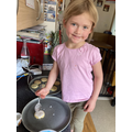 Lola R from York Class learnt about planets and space. We did various paper worksheets and read books but her favourite was making space biscuits and decorating them like the planets. She then put them in order and ate them in order too!!