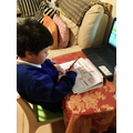 Elijah ( Coventry Class) working through the home learning pack