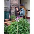 Ishana (Coventry Class) doing some gardening.