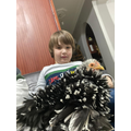 Efe (Lincoln Class) with his pet hen