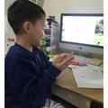 Philip ( York Class) having remote lessons online