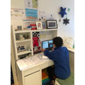 Naseem (Ely Class) having remote lessons