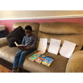 Daniel (Salisbury Class) reading.