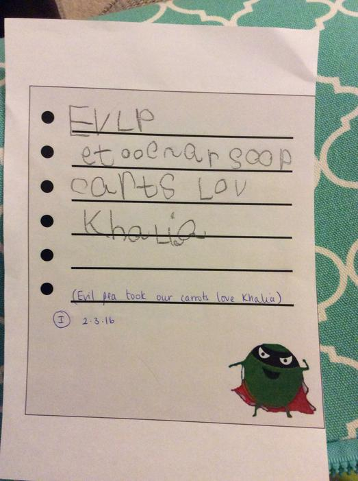 Another excellent letter for Evil Pea!