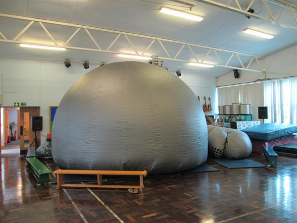The Science Dome with 30 Year 1 children inside!