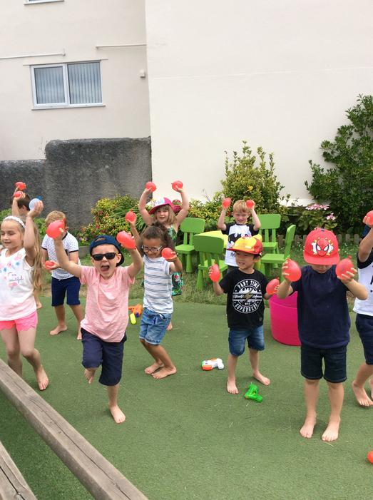Then it was time for our water fight!