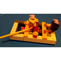 Jakira's Lego raft - she tested it to see if it would float. What do you think?