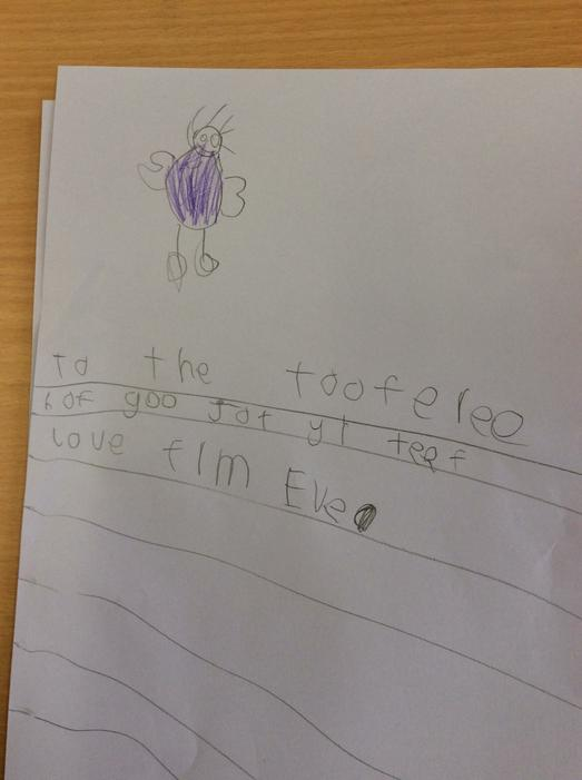 Some children wrote to the tooth fairy as well.