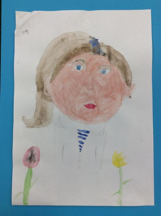 A self portrait by Mya