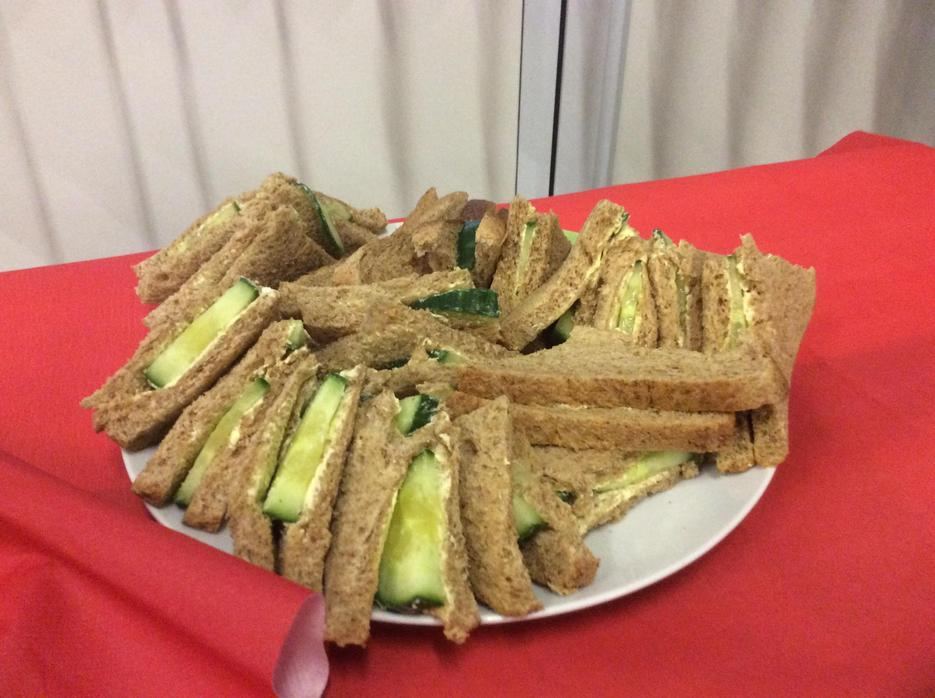 Cucumber sandwiches fit for the Queen!
