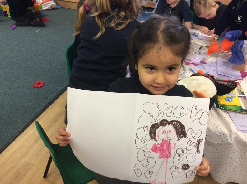Everyone made lots of pictures and cards!