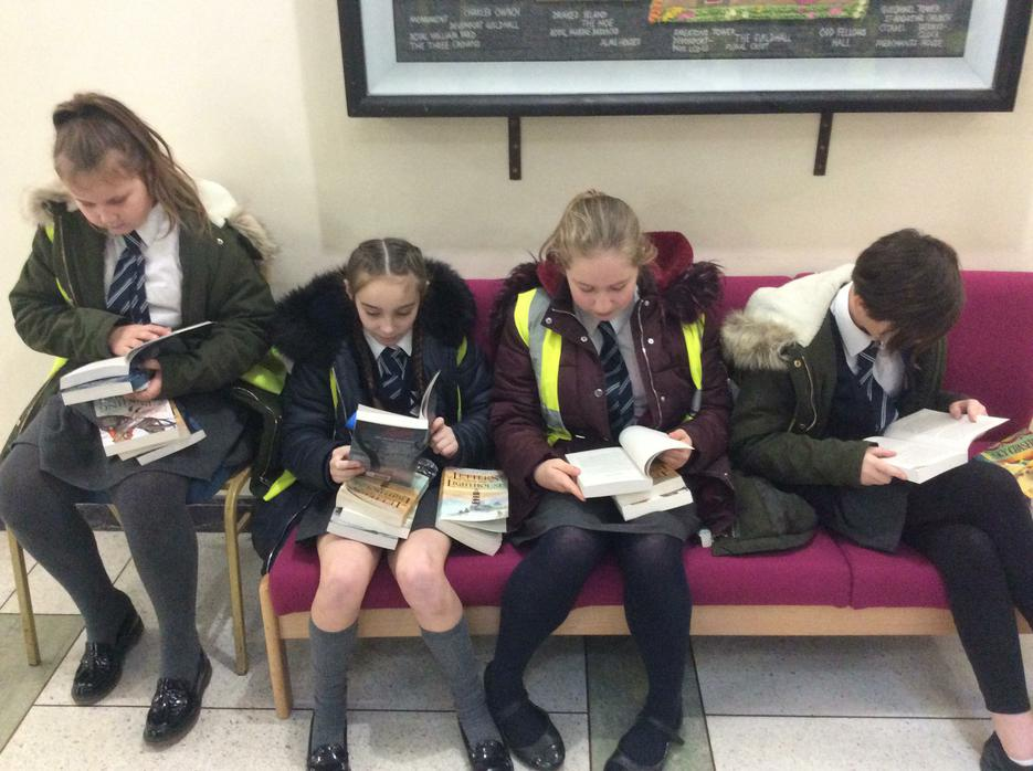 We couldn't wait to read our new, signed books!