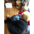 Learning about fractions with Nanny.