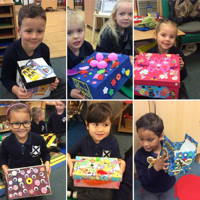 We made special treasure boxes!