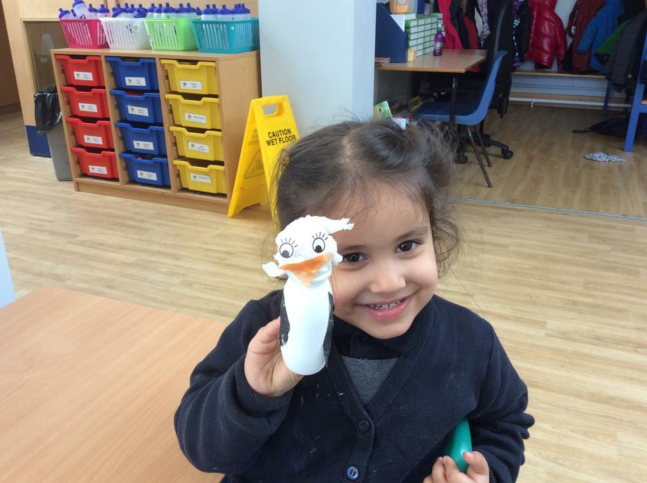 We made penguins...