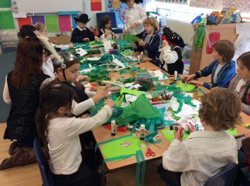 Creating our terrifying seaweed monsters!