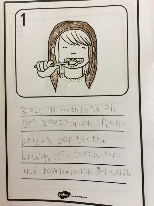 ..and wrote about how to look after your teeth.