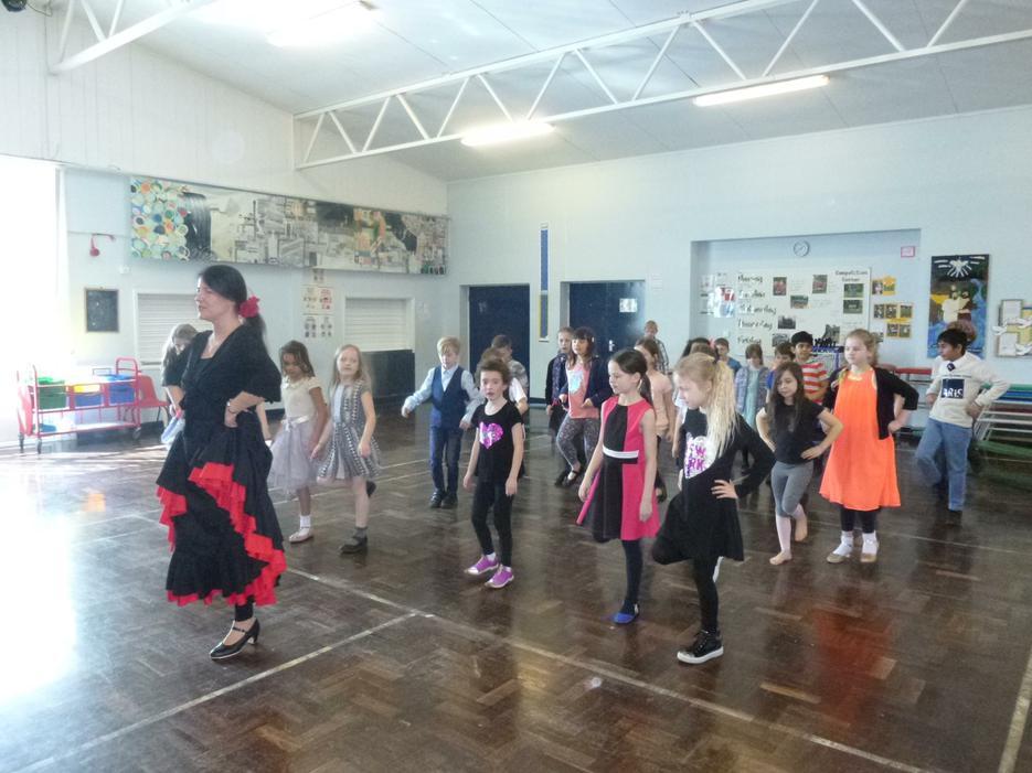 Learning flamenco dancing!