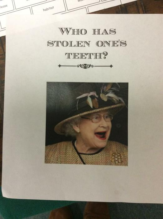 We then received this poster from the Queen!