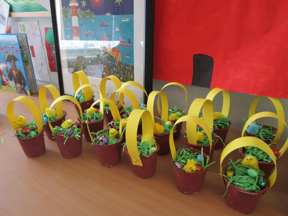 Easter baskets made by Year 2 2017