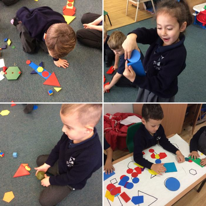 We know our 2D and 3D shapes!
