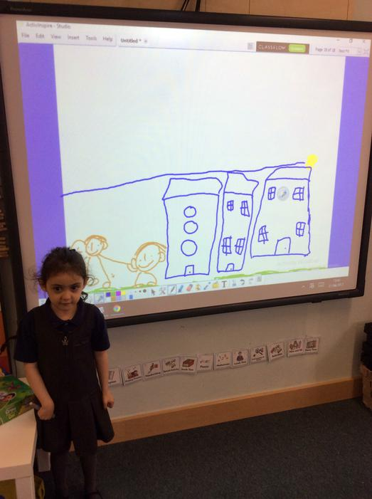 We can use the whiteboard to draw pictures!