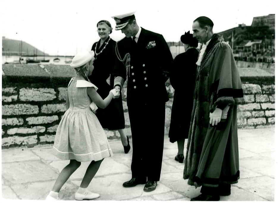 Bethan Davey and Prince Philip 1958