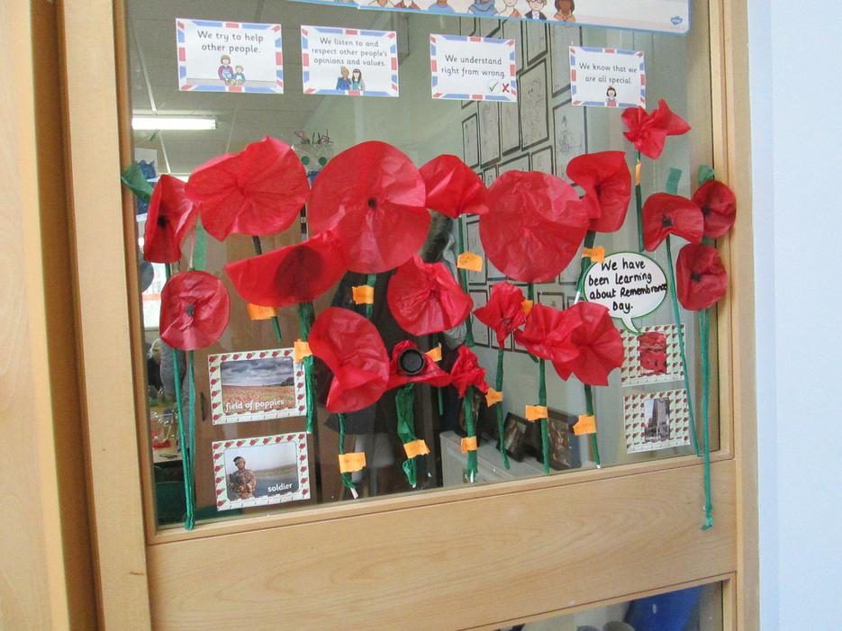 Poppies made by our Foundation class