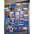 We made a display all about our school