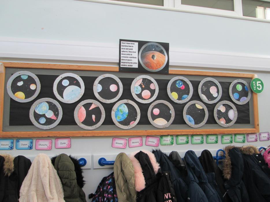 Earth, Space and Beyond topic display