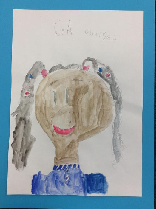 A self portrait by Ghalyah