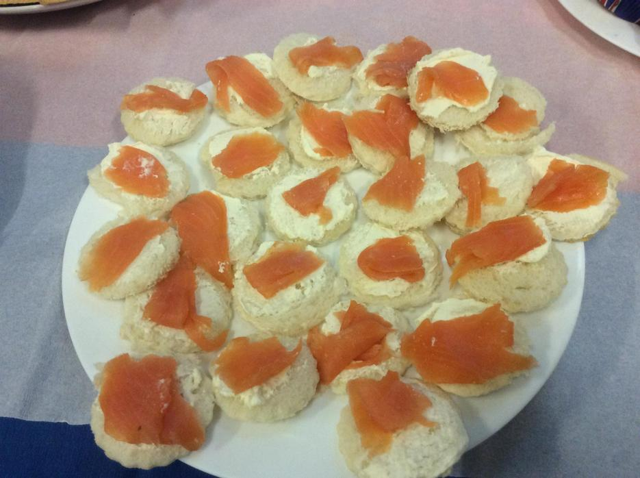 Scottish smoked salmon sandwiches