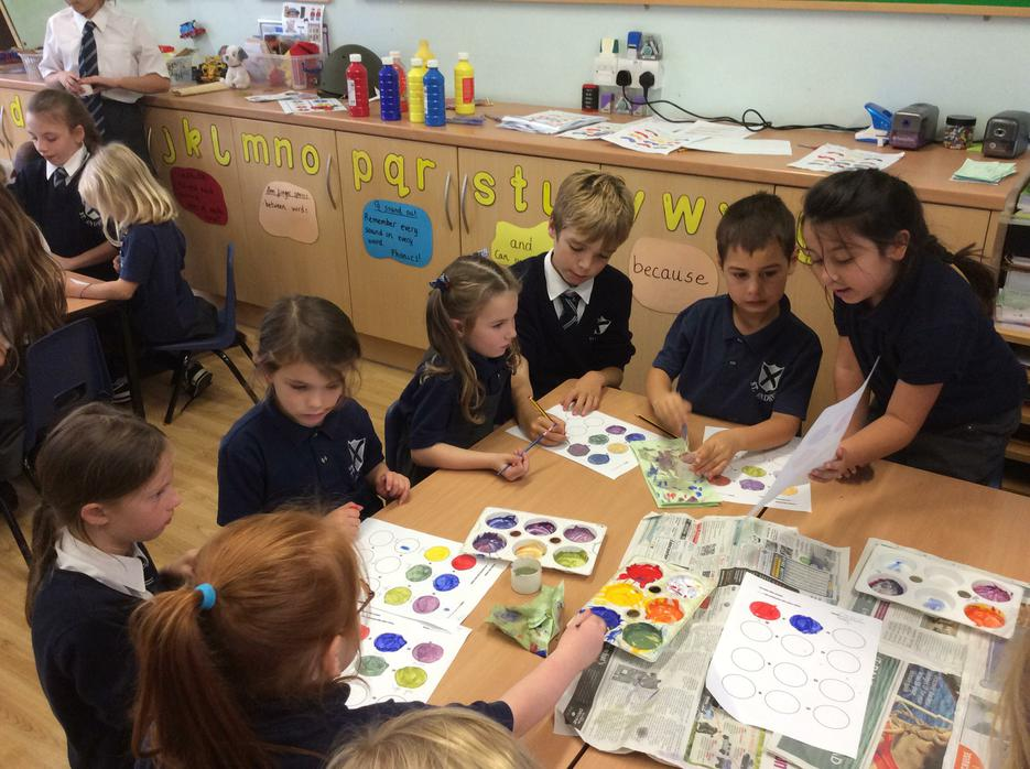 Painting with Year 6 was so much fun!