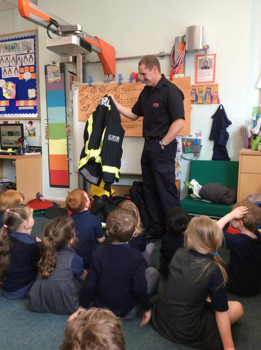 We learnt all about the uniform firefighters wear