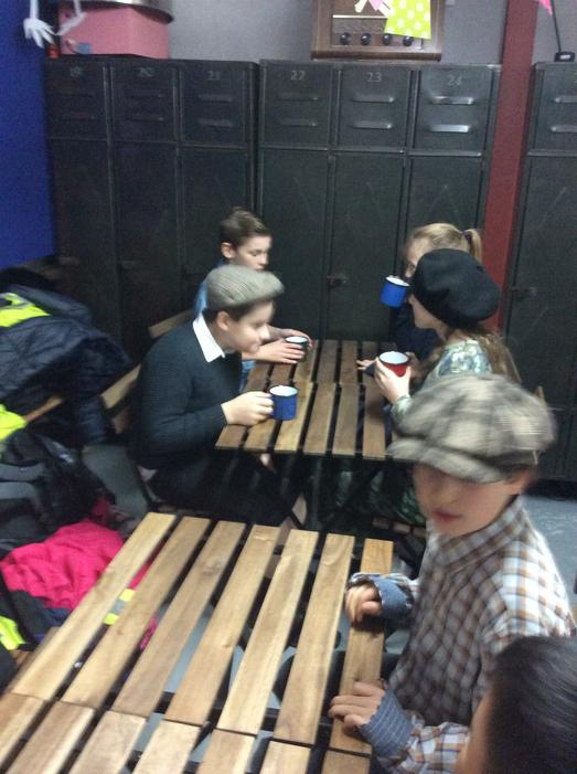 Hot chocolate at break time.