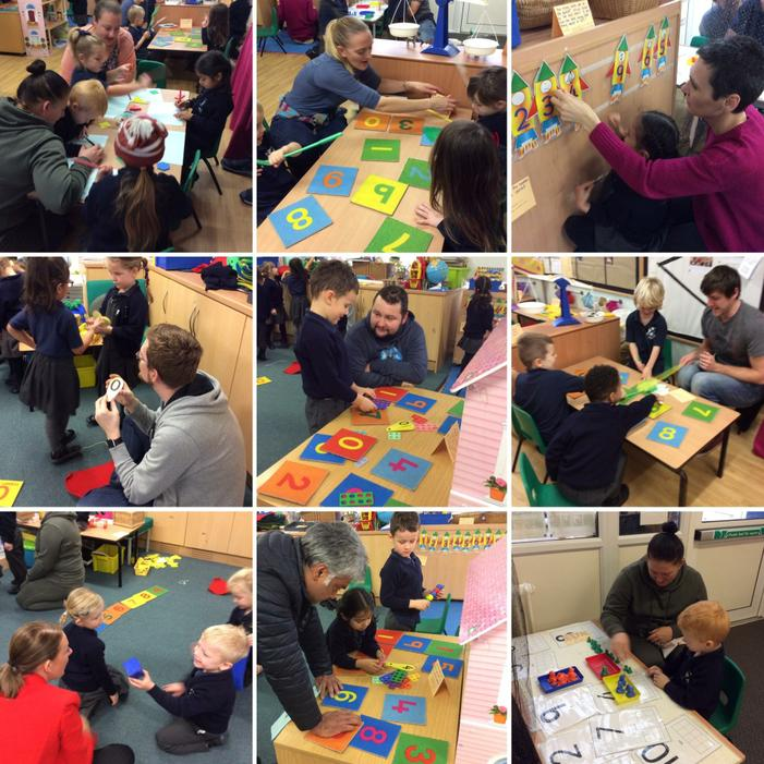 We had lots of maths fun with our grown ups!