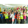 Year 4 are enjoying Be Safe, Be Seen Day!