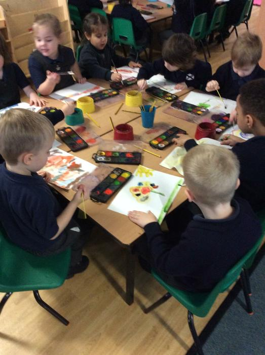 Painting during our whole school spirituality day