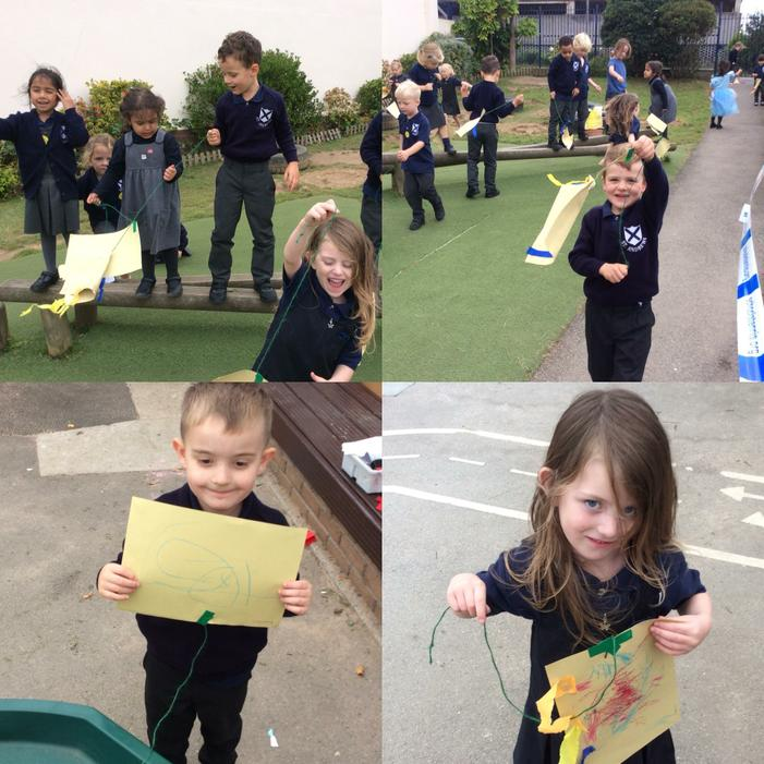 We made our own kites!