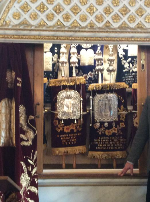 The Ark contains the Torah.