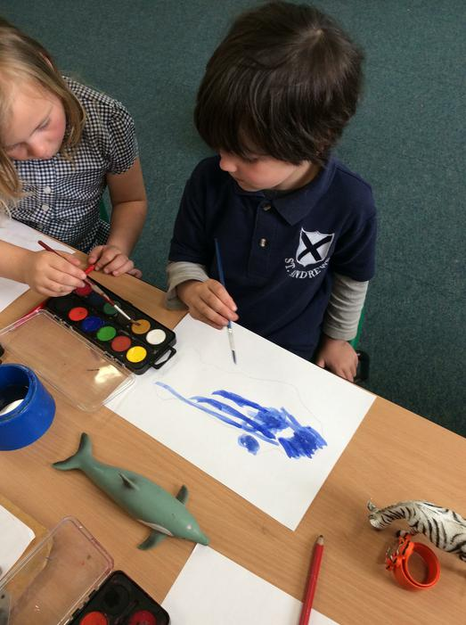 We can use watercolour paints!