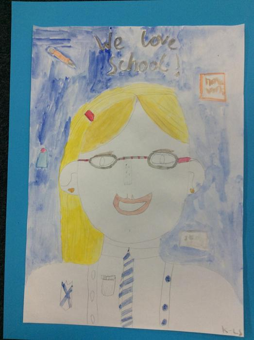 A self portrait by Kayla