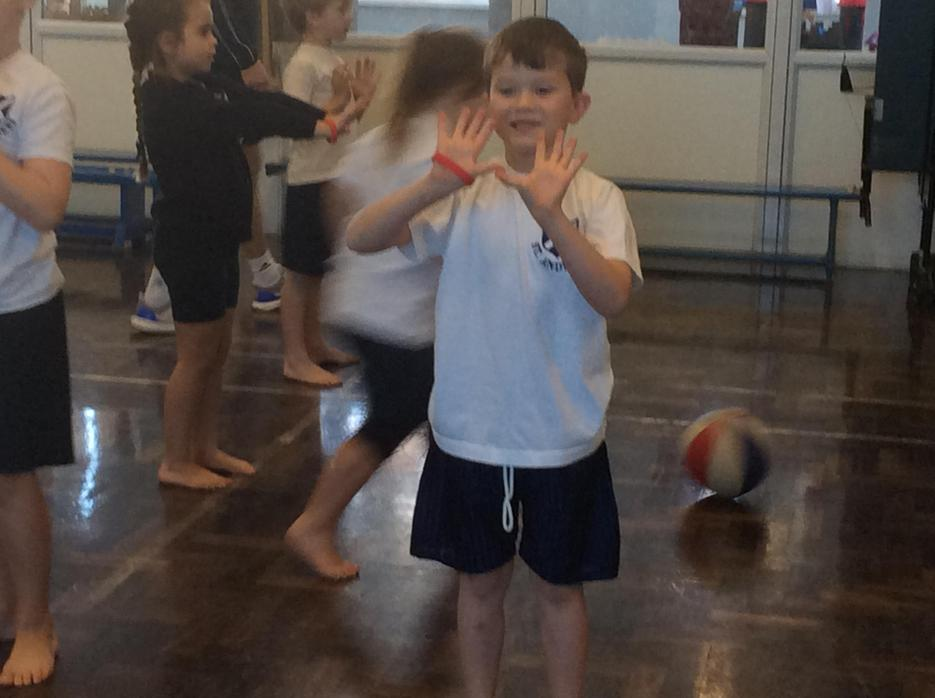 Creating a 'w' shape to catch/pass the ball.