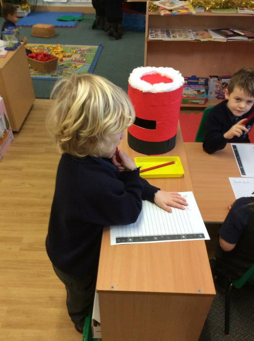 Writing letters to Father Christmas...