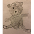 Eve's sketch of her teddy.