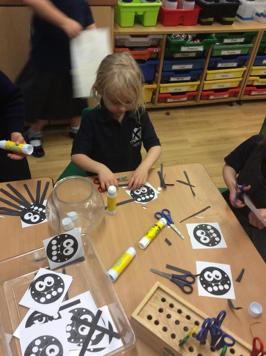 We made our own Incy Wincy Spiders