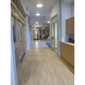 The lovely corridors are being tidied and cleaned