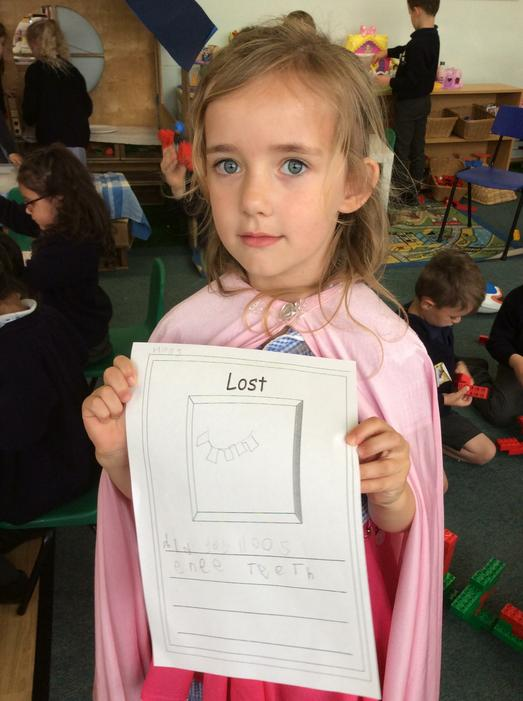Lots of children made lost posters..