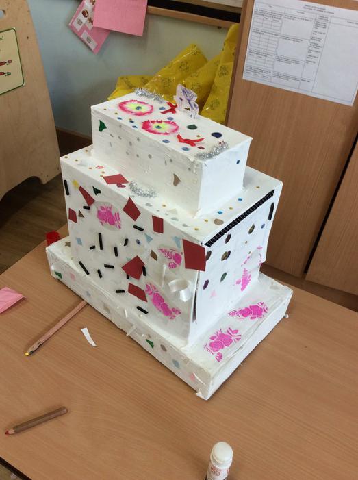 Our beautiful wedding cake!