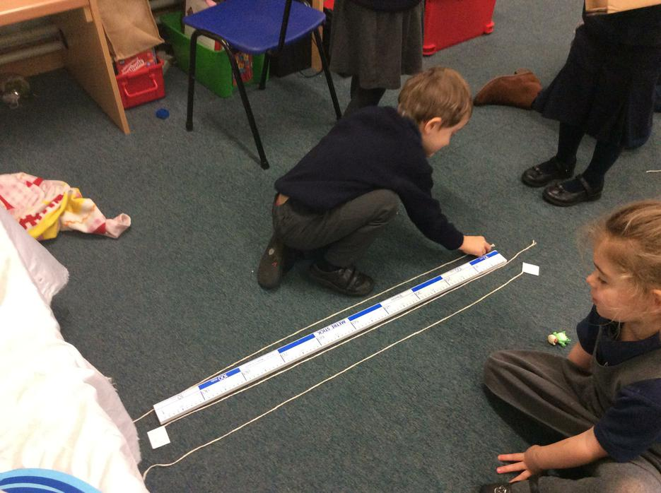 Measuring the length..